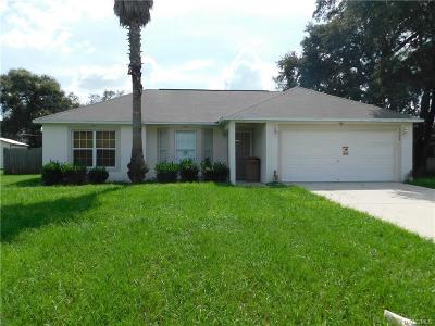 Spring Hill Single Family Home For Sale: 9140 El Camino Street