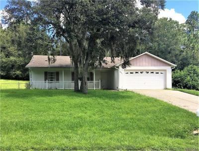 Citrus Springs Single Family Home For Sale: 8451 N Titleist Drive