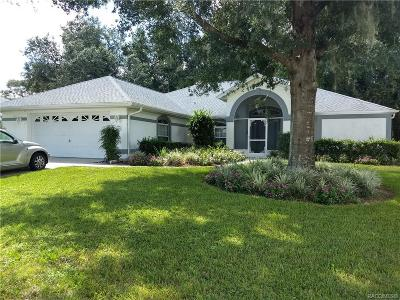 Hernando Single Family Home For Sale: 3664 E Hidden Cove Trail