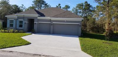 Homosassa Single Family Home For Sale: 10 Douglas Court S