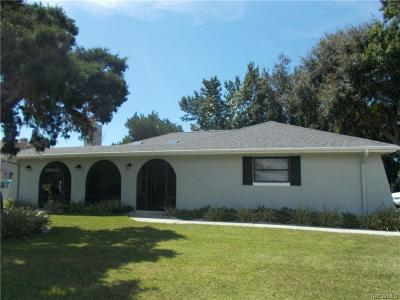 Homosassa Single Family Home For Sale: 12014 W Dolphin Court