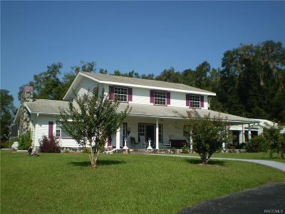 Lecanto Single Family Home For Sale: 1588 S Lecanto Highway
