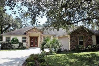 Hernando Single Family Home For Sale: 60 E Ireland Court