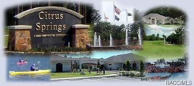 Citrus County Residential Lots & Land For Sale: 10053 N Country Club Way