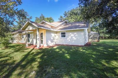 Crystal River Single Family Home For Sale: 9373 W Chata Place