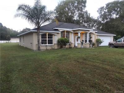 Homosassa Single Family Home For Sale: 7770 W Autumn Street