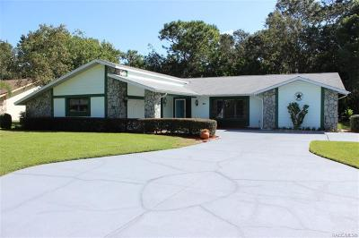 Homosassa Single Family Home For Sale: 58 Pine Street