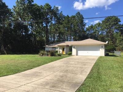 Single Family Home For Sale: 1761 W Citrus Springs Boulevard