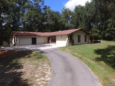 Lecanto FL Single Family Home For Sale: $239,000