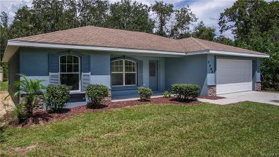 Citrus Springs Single Family Home For Sale: 2293 W Paragon Lane