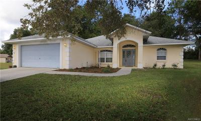 Lecanto Single Family Home For Sale: 1984 W Marsten Court