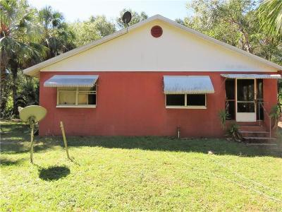 Citrus County Single Family Home For Sale: 12225 E Walton Drive