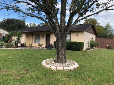 Homosassa Single Family Home For Sale: 3883 S Kindness Terrace