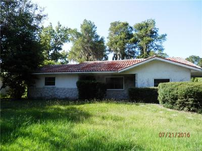 Crystal River Single Family Home For Sale: 1104 SE 1st Street