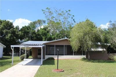 Beverly Hills FL Single Family Home For Sale: $89,000