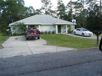 Homosassa Multi Family Home For Sale: 7843&7845 Solar Place