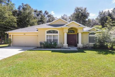 Citrus Springs Single Family Home For Sale: 490 W Bluster Place