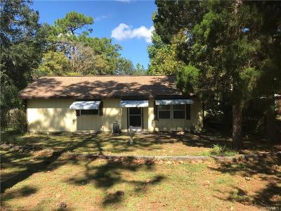 Homosassa Single Family Home For Sale: 1930 S Melanie Drive