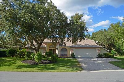 Homosassa Single Family Home For Sale: 42 Black Willow Street