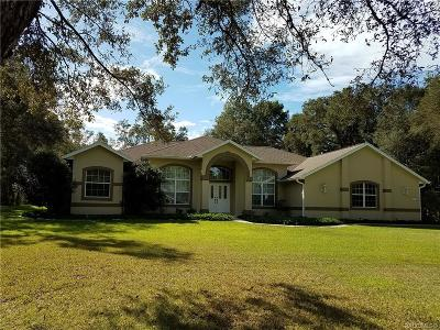 Hernando Single Family Home For Sale: 1874 W Pearson Street