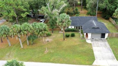 Crystal River Single Family Home For Sale: 9564 W Plantation Lane