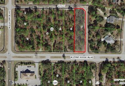 Beverly Hills Residential Lots & Land For Sale: 3015 W Pine Ridge Boulevard