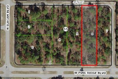 Beverly Hills Residential Lots & Land For Sale: 3087 W Pine Ridge Boulevard