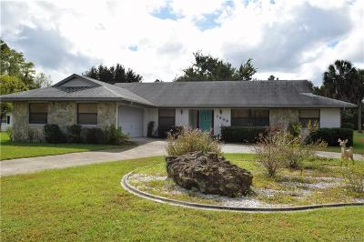 Crystal River Single Family Home For Sale: 7606 W Golf Club Street