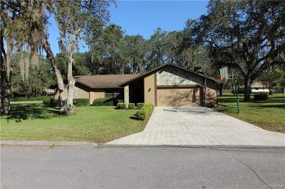Crystal River Single Family Home For Sale: 6186 W Woodside Circle