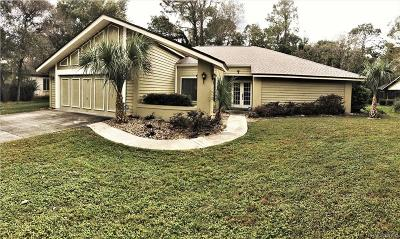 Homosassa Single Family Home For Sale: 7 Pine Street