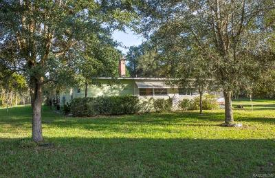Floral City Single Family Home For Sale