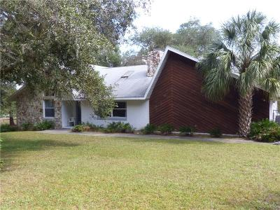 Citrus County Single Family Home For Sale: 2695 N Leesburg
