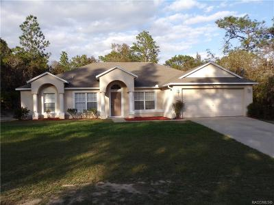 Citrus Springs Single Family Home For Sale: 5635 N Matheson Drive