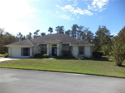 Homosassa Single Family Home For Sale: 6 Zinnias Court