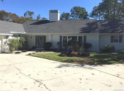 Homosassa Single Family Home For Sale: 5 Byrsonima Court W
