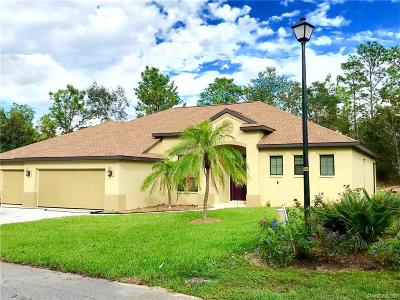 Homosassa Single Family Home For Sale: 17 Hibiscus Court