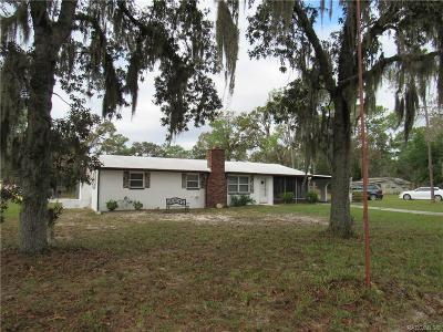 Homosassa, Dunnellon Single Family Home For Sale: 7140 S Straight Avenue