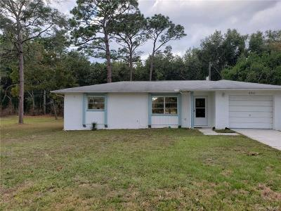 Beverly Hills FL Single Family Home For Sale: $99,900