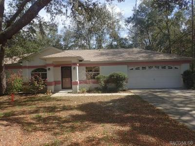 Citrus County, Levy County, Marion County Rental For Rent: 11285 N Schult Terrace