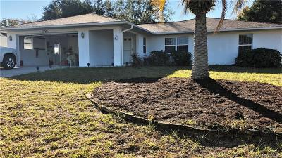 Homosassa Single Family Home For Sale: 5750 W Irving Court