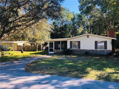 Homosassa Single Family Home For Sale: 7872 W Mesa Lane