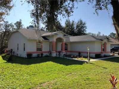 Inverness FL Single Family Home For Sale: $252,000