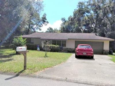 Citrus County Single Family Home For Sale: 6460 E Glencoe Street
