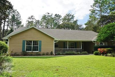 Lecanto Single Family Home For Sale: 352 N Manor Way