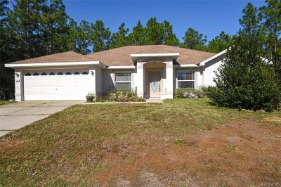 Homosassa Single Family Home For Sale: 24 Whitewood Street