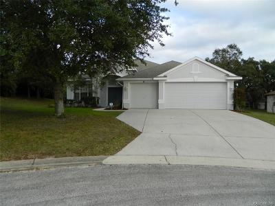 Lecanto Single Family Home For Sale: 71 N Youngtree Point