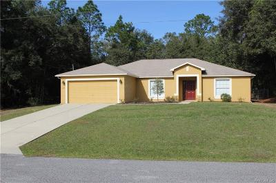 Citrus Springs Single Family Home For Sale: 359 W Tanner Place
