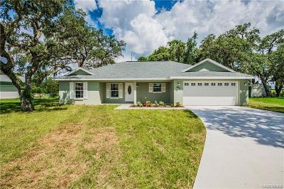 Lecanto Single Family Home For Sale: 465 N Bluejack Point
