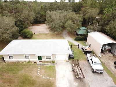 Homosassa Single Family Home For Sale: 6204 W Patriot Street