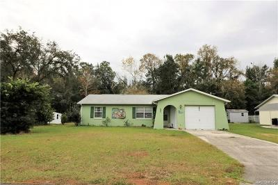 Homosassa Single Family Home For Sale: 7190 W Porpoise Drive